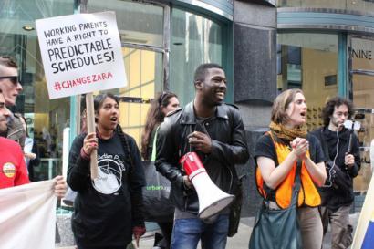 Zarako New Yorkeko langileak protestan lan-baldintza txarren aurka
