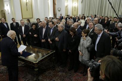 Emakumerik ez Syrizaren ministroen artean
