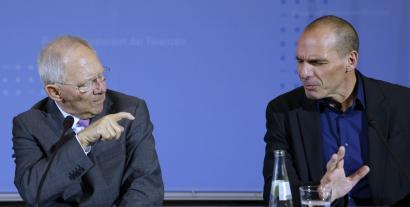 Eta greziarrek ikusi zuten Wolfgang Sch�uble, Europako buru hautatu gabea