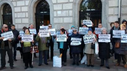 Protestei ekingo diete Santurtziko desjabetutako bizilagunek