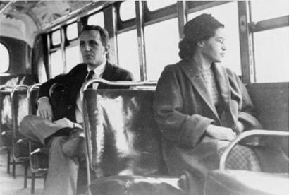 Urquijoren aurrean Rosa Parks