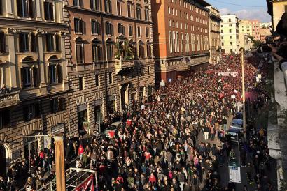 30.000 pertsona bildu dira Erroman eskuin muturreko Lega Nord-en aurka