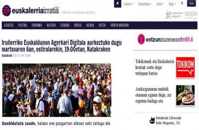 Iru�erriko Euskaldunen Agerkaria, komunitateari zabalik