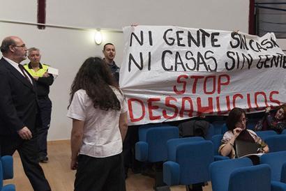 Etxe kaleratzeen aurkako protesta batengatik 19 atxilotu Madrilen