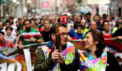 Korrikako lekukoan Euskal Herria zeharkatu duen mezua: Bagara nor