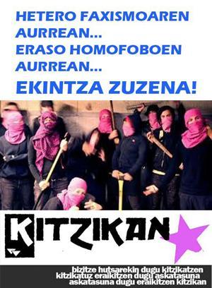 Eraso homofobo baten ondorioz erietxera eraman dute Kitzikaneko kide bat