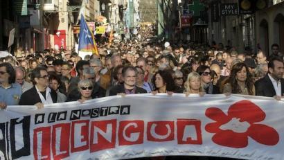 Protestak ez du etenik izanen Balear Uharteetan katalanezko telebistak itzuli arte