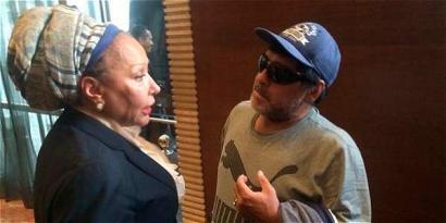 Diego Armando Maradona, Kolonbiako bake prozesuaren aldeko partiduan