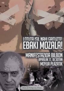 Bizkaiko gazte eragileek 'Mozal legea'-ren aurkako manifestaziora deitu dute