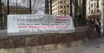 Kataluniako Parlamentua inguratzeagatik zigortutakoen alde, kalera irtengo dira Donostian