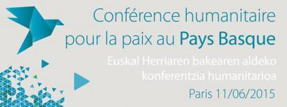 Euskal Herriaren bakearen aldeko konferentzia, ekainean Parisen