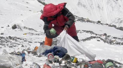 Everestetik 4.000 kilo hondakin garbituko ditu Indiako armadak