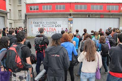 Donostiako Firestone fabrika berreskuratu dute proiektu eraldatzaileak batzeko