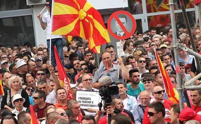 M15 mugimenduaren antzeko zerbait Mazedonian?