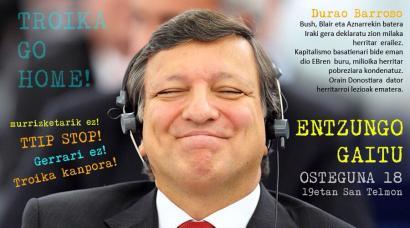 Barrosoren aurkako kontzentrazioa deitu dute ostegunean Donostian