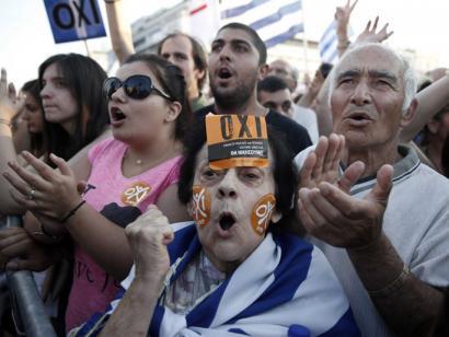 Irrintzi bat entzun da Europa zaharrean: 'Oxi'