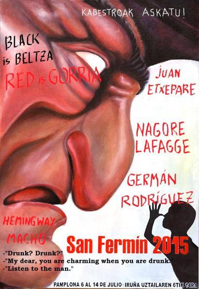 Sanferminetan hiru izen (red is gorria Irunean)