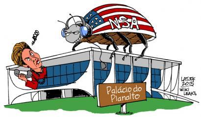 Dilma Rousseff Brasilgo presidentea ere zelatatu dute AEBek