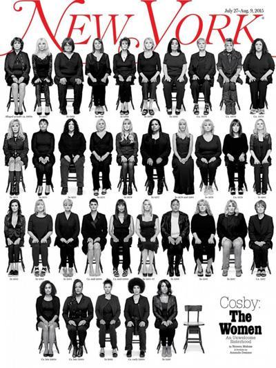 Bill Cosbyk bortxatu dituela salatu duten 35 emakume aldizkari baten azalean