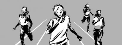 Mediterraneoan itotako atletaren historiaz komikia