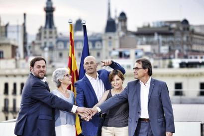 Hauteskunde kanpaina abiatzear Katalunian, independentzia ardatz