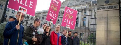 Alemanian gay eta lesbianen ezkontzak geroz eta gertuago