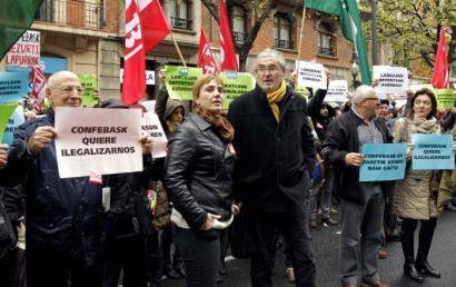 Confebask ELA eta LABi sindikatu izaera kentzen saiatu zen CEOEren dokumentu baten arabera