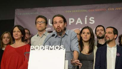 """Pablo Iglesias: """"Hauteskundeek argi utzi dute Espainia herrialde nazio-aniztuna dela"""""""