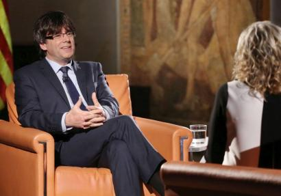 Puigdemontek dio oraindik ez dagoela independentzia aldarrikatzeko gehiengo nahikorik
