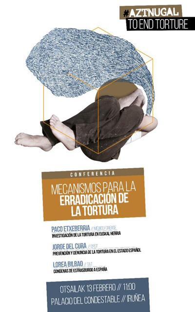 Otsailean torturaren aurkako jardunaldiak Iru�errian