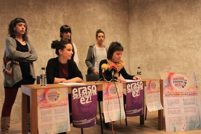 Eraso sexisten kontrako kanpaina abiatu du Gora Iru�eak