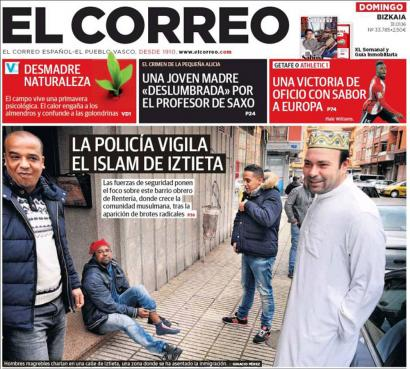 'El Correo'-k Errenteriako komunitateen elkarbizitzari eraso egin diola salatu dute