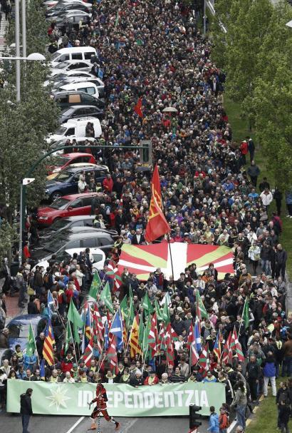 Aberri Eguna Iru�ean ospatzeko deia egin du Independentistak Sareak