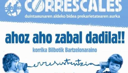 Korrika Prekarioaren jarraipena elkarlanean Ahotsa, Arainfo, La Directa eta ARGIAk