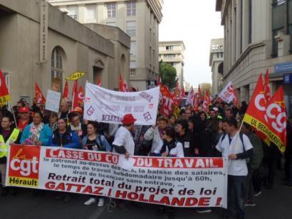 Greba orokorra Frantziako estatuan Hollande eta Vallsen lan erreformaren aurka