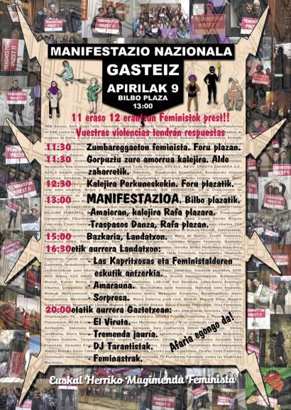 Gasteizko manifestazio feministan parte hartzeko deia egin dute, 225 eragileren babesarekin