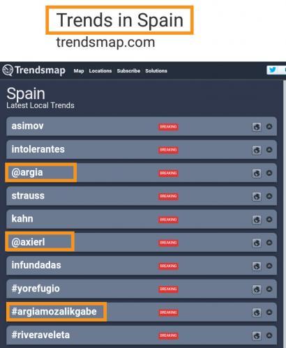 ARGIAri Mozal Legea aplikatu izana Trending Topic Espainiako Estatuan