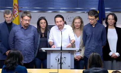 Podemosek kontsulta egingo du bere oinarrietan PSOE-Ciudadanos balizko gobernua babesteaz