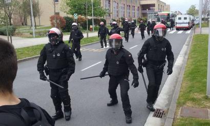 5 atxilotu eta 15 zauritu Leioako campusean, IAk deitutako protesta egunean