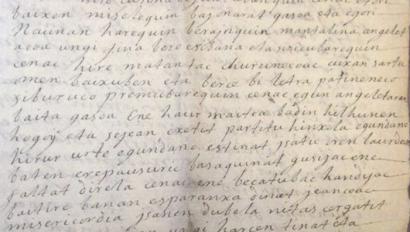 Lapurdiko herritarrak euskaraz alfabetatuta zeudela frogatu dute 1757ko gutunek