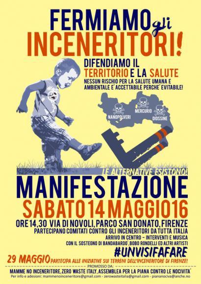 Florentzian 14an manifestazio handia 'Mamme No Inceneritore'-k deiturik