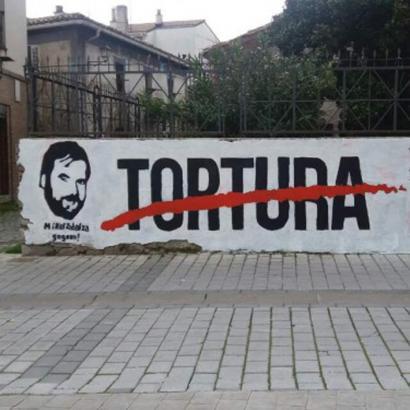 Mikel Zabalzaren omenezko muralak terrorismoa goratzen du Espainiako Gobernuaren ordezkariaren ustez