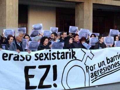 Sexu erasoa Iru�ean: protesta egin dute astelehen arratsaldean