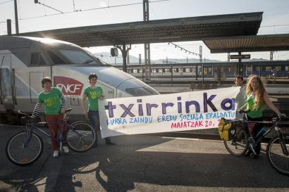 Ostiralean abiatuko da azpiegitura txikitzaileen aurkako Txirrinka ekimena