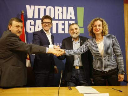 PSE Gasteizko Udaleko gobernuan sartu da EAJrekin akordioa sinatuta
