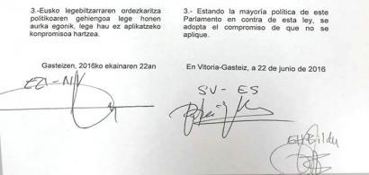 Mozal Legea ez aplikatzea erabaki du Eusko Legebiltzarrak