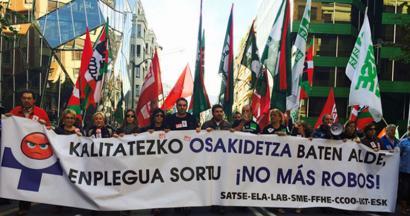 Osasun publikoaren aldeko manifestua: EAEko BPGaren %1 gehiago Osakidetzarentzat