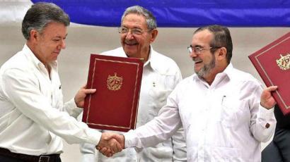 Bake akordioa sinatu dute Kolonbiako Gobernuak eta FARC-EPk