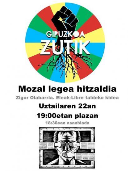 Mozal Legeari buruzko hitzaldia antolatu du Azkoitia Zutikek