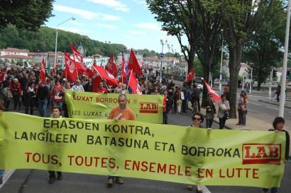 """Peio Dufau (CGT): """"LAB baztertzea erabaki politikoa da"""""""